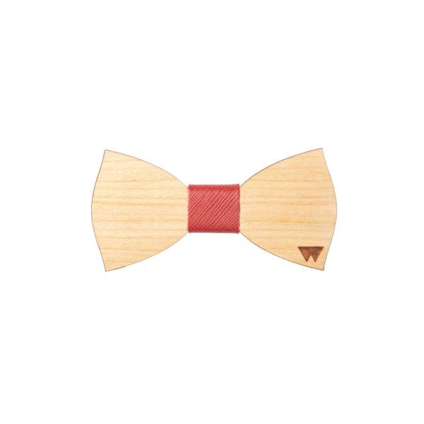 Papillon bimbo in legno Ciliegio marcato Woodillon