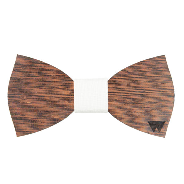 Papillon in legno Wengè, realizzato artigianalmente da Woodillon