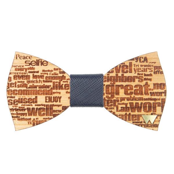 Papillon in legno Words, marcato Woodillon