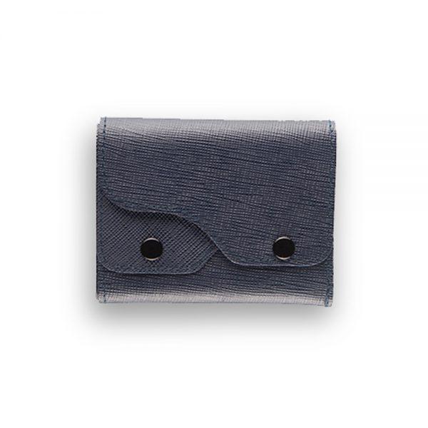Portafoglio Cash Saffiano Blue - Woodillon