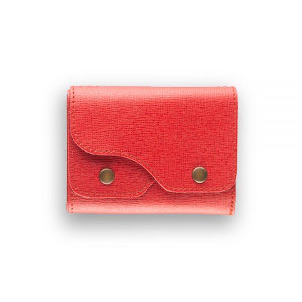 Portafoglio Cash Saffiano Rosso - Woodillon