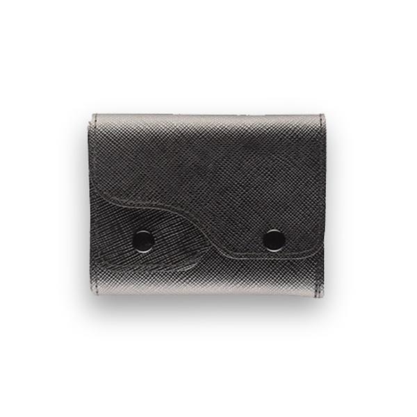 Portafoglio Cash Saffiano Nero - Woodillon