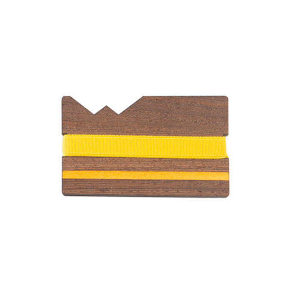 Porta carte Yellow Line, marcato Woodillon