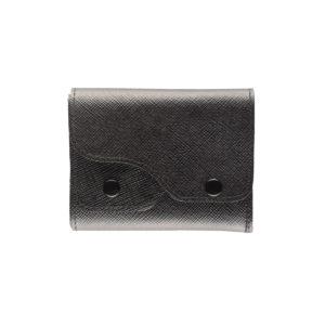 portafoglio cash saffiano nero, marcato Woodillon