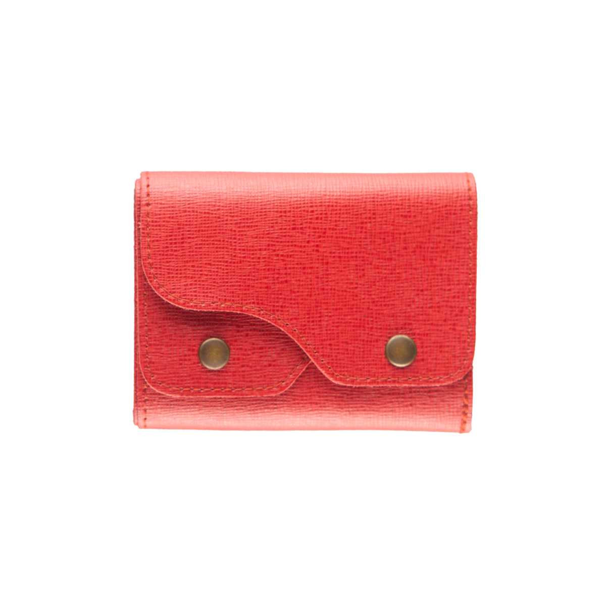 portafoglio Cash saffiano rosso marcato Woodillon