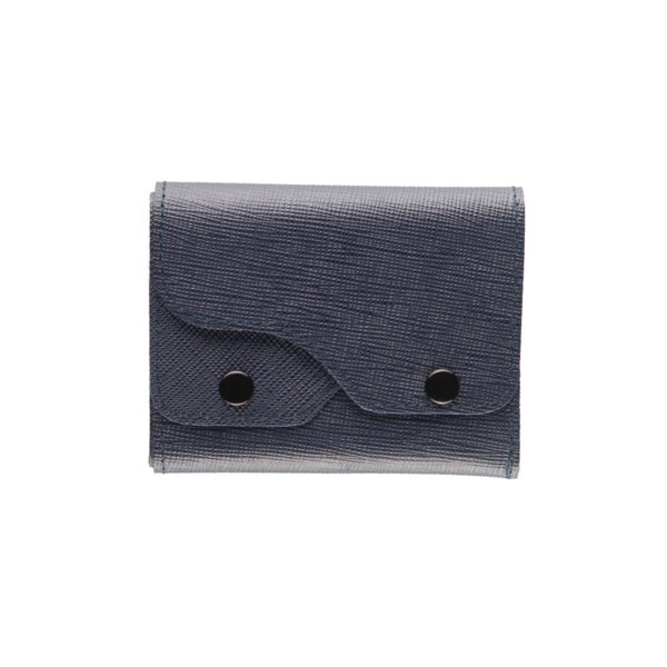Portafoglio Cash saffiano blu marcato Woodillon