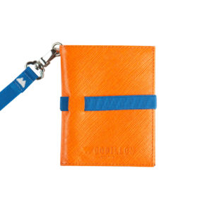 Portafoglio Smart Orange Blue Woodillon