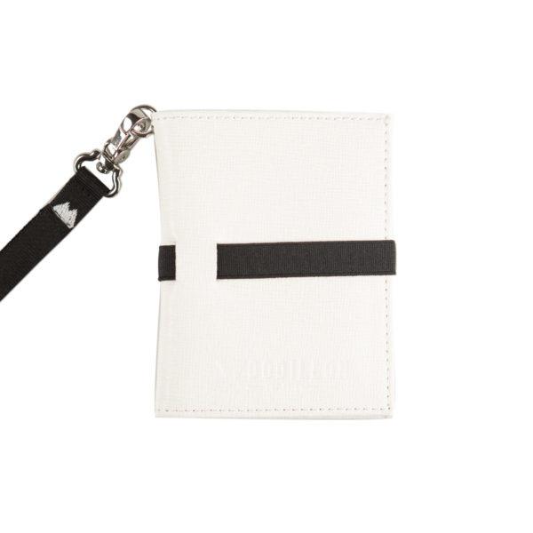 Portafoglio Smart white black, Woodillon