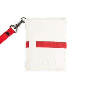 Portafoglio smart white red, marcato Woodillon