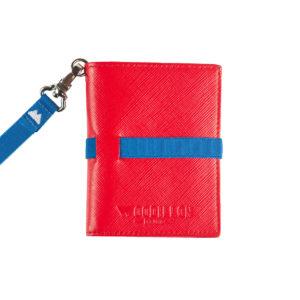 Portafoglio Smart Red Blue, Woodillon