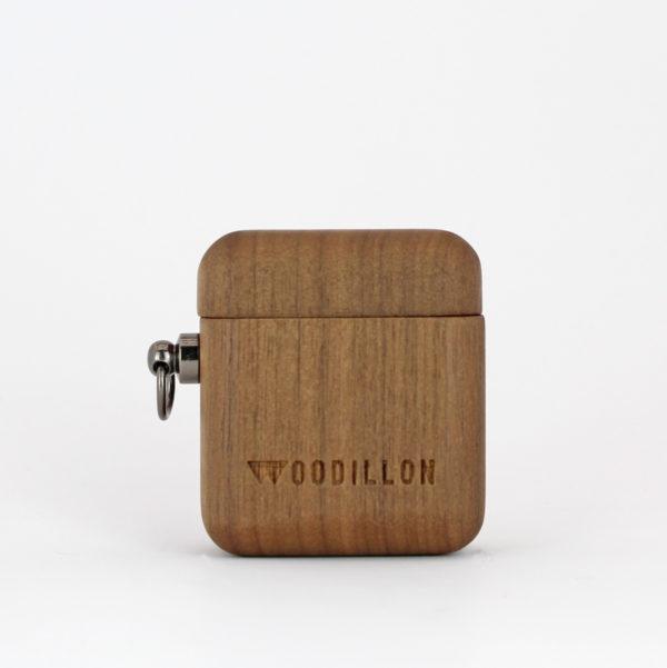 airpods case in legno di noce Woodillon