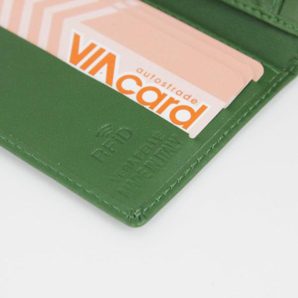 Portafoglio Smart 76 verde, Woodillon. 100% made in Italy