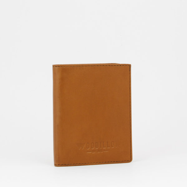 Portafoglio smart 72, cognac senza elastico, Woodillon
