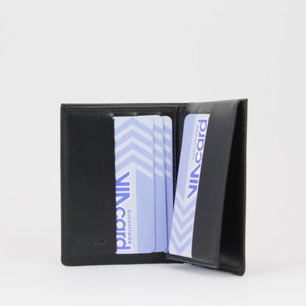 Portafoglio smart 76 nero, marcato Woodillon