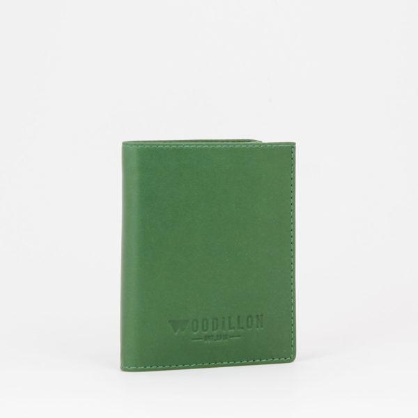 portafoglio smart 76 verde senza elastico, Woodillon